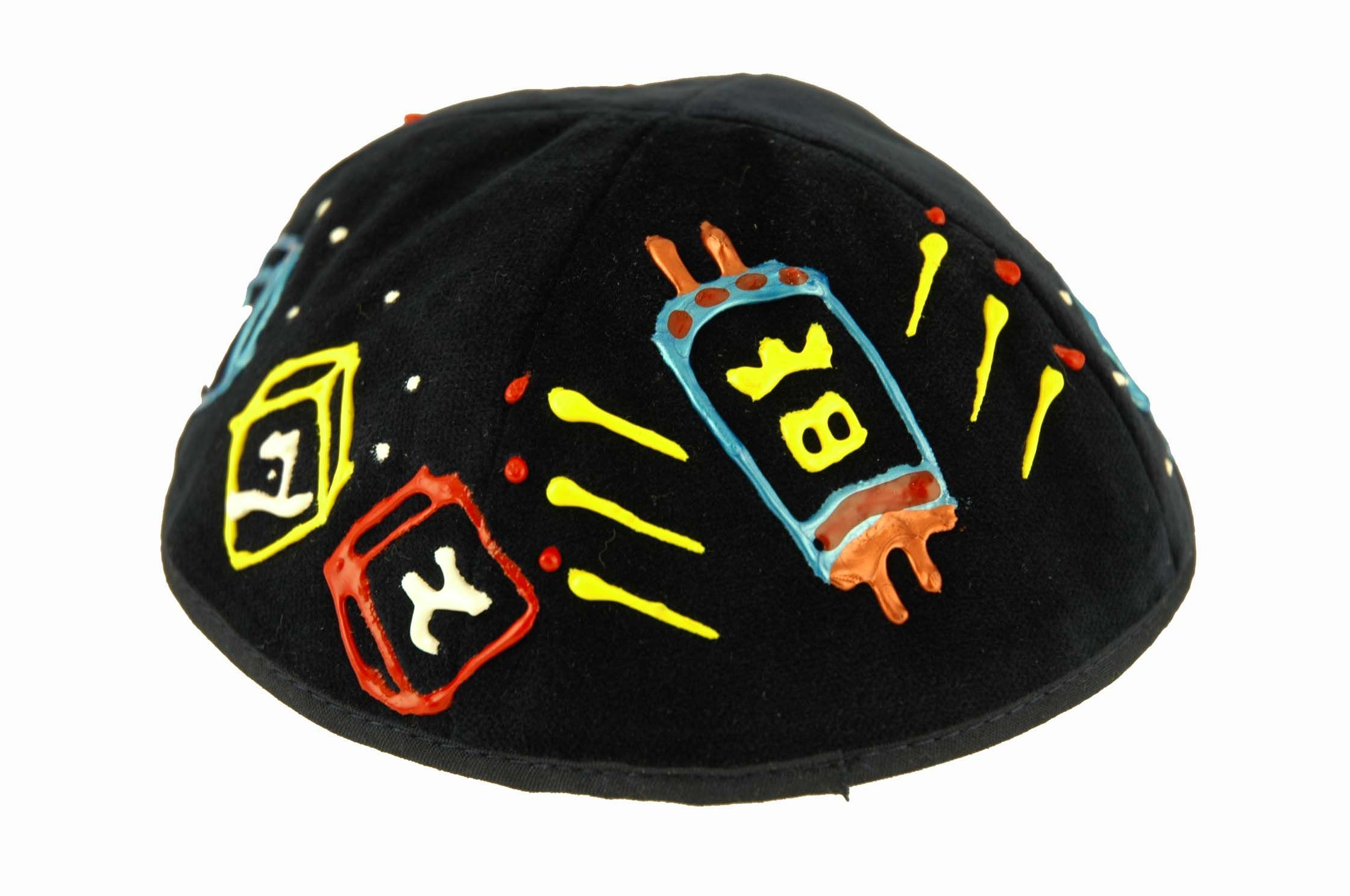 Hand Painted Childrens Yarmulkas