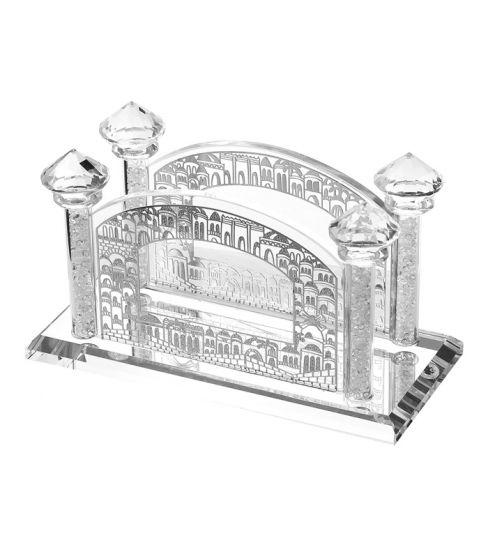 Eichlers Com Crystal Flat Napkin Holder Jerusalem Silver Design